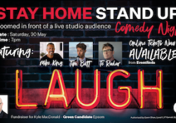 Fundraiser: Stay Home Stand Up Comedy Night with MC Mike King
