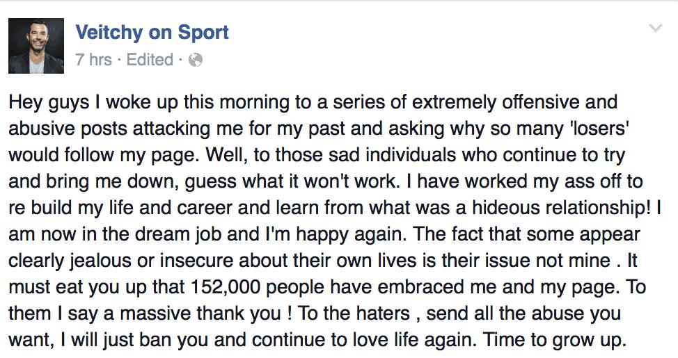 Veitch on Sport
