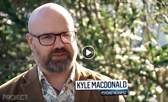 Kyle MacDonald being interviewed on The Project